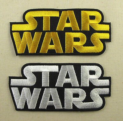 £2.20 • Buy RETRO STAR WARS  Iron On Sew On Embroidered Patch White Or Gold
