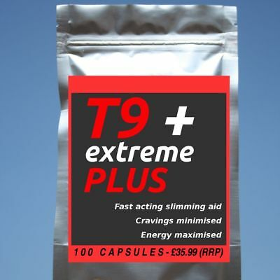 100 T9 EXTREME PLUS Strong Diet Pills SLIMMING/WEIGHT LOSS; Hardcore Fat Burner! • 15.50£