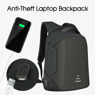 AU25.24 • Buy Water Repellent Design Anti-Theft Backpack Travel School Bags With USB Port