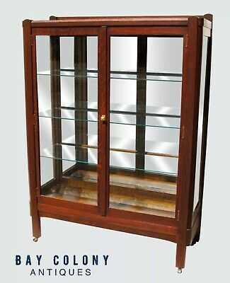 $1575 • Buy Antique Oak Arts & Crafts Bookcase / China Cabinet ~~ Lifetime Furniture Co