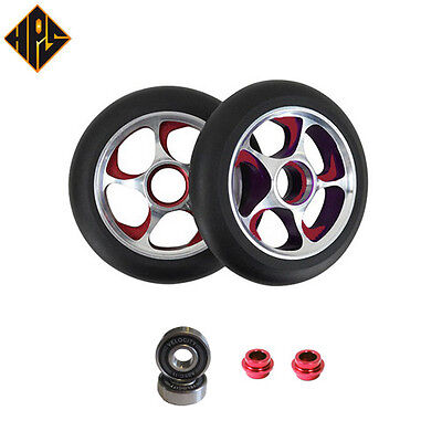 £24.88 • Buy 2X PRO STUNT SCOOTER RED STORM METAL CORE WHEELS 110mm 88A ABEC 11 BEARING 9