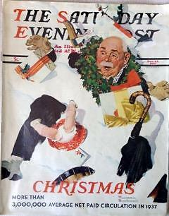 $ CDN50.86 • Buy The Saturday Evening Post December 25, 1937 Norman Rockwell Cover FULL MAGAZINE