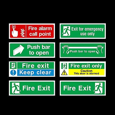 £1.09 • Buy Fire Exit / Keep Clear / Push Bar Plastic Sign, Sticker - All Materials & Sizes