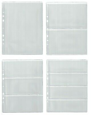 £5.49 • Buy Pages For Banknote Album, Dividers - BIG CHOOSE - Four Type Sleeves 1, 2, 3, 4