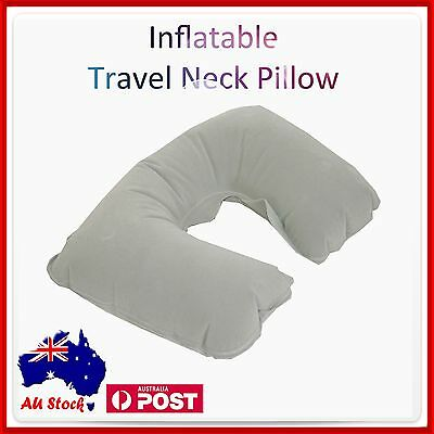 AU6.95 • Buy Inflatable Car Travel Neck U Shape Pillow Support Head Rest Air Blow Up Cushion