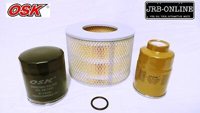 AU45.49 • Buy Suits Toyota Landcruiser HZJ70 Diesel 4.2L 1HZ OIL AIR FUEL FILTER SERVICE 91-92