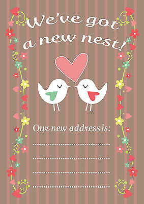 New Home, New Address Cards, Pack Of 16, Colourful Design, Made In The UK • 2.60£