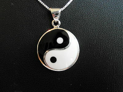 AU31.13 • Buy  Sterling Silver (925)  Ying Yang Pendant With 925 Silver 18  Chain  !!  New  !!