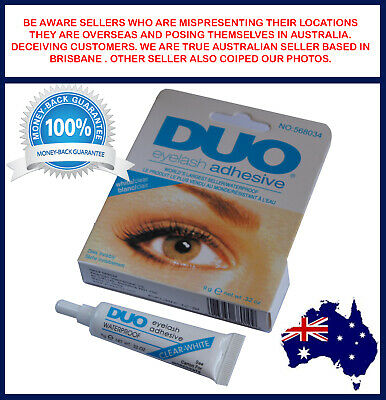 AU5.95 • Buy DUO Waterproof Clear White False Adhesive Eye Lash Glue Eyelashes Makeup