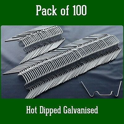 £5.53 • Buy Greenhouse Parts Spares Spring Wire ' W ' Glazing Glass Clips Pack Of 100