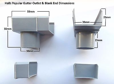 £14.66 • Buy Greenhouse Parts Halls Spares Rainwater Gutter Outlet & Blank End