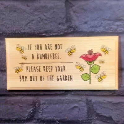 Funny Bumblebee Garden Sign, Keep Out Plaque Shed Bee House Allotment Gift 151 • 9.95£