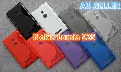 AU2.99 • Buy Nokia Lumia 925 S Curve Slim Soft Silicone Matte Rubber Gel Back Cover Case