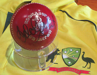 AU249 • Buy Adam Gilchrist (Australia) Dual Signed 4 Peice Cricket Ball  + COA & Photo Proof