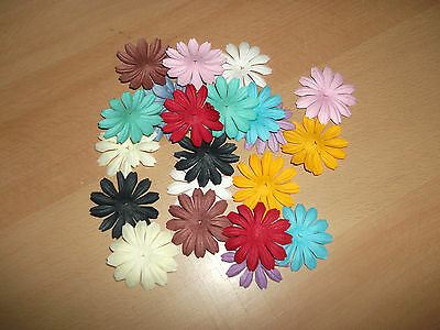 20 Solid Colour Mulberry Paper Gerbera / Daisy Flower Heads 40mm Various Colours • 1.20£