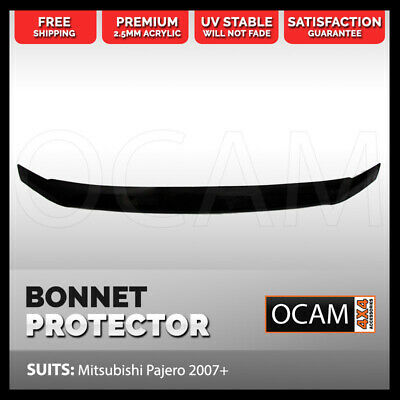 AU89 • Buy Bonnet Protector For Mitsubishi Pajero 2007-2020 NS NT NW NX Tinted Guard