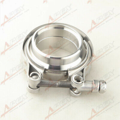 AU35.06 • Buy 2  Self Aligning Male/Female V-Band Vband Clamp CNC Stainless Steel Flange Kit