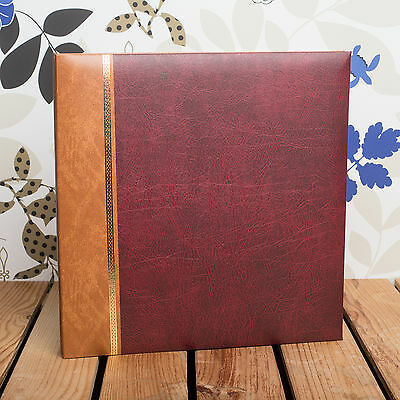 £23.99 • Buy SELF ADHESIVE PHOTO ALBUM *Holds 12x10 Inch Photos* Traditional Burgundy Cover