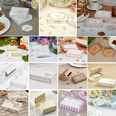 £4.99 • Buy Wedding Cake Slice Boxes X 10 - 18 Designs - Shabby Chic Floral Party Favours