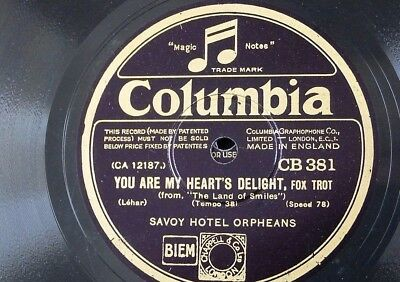 78rpm SAVOY ORPHEANS You Are My Hearts Delight / Song Of Songs CB 381 • 15£