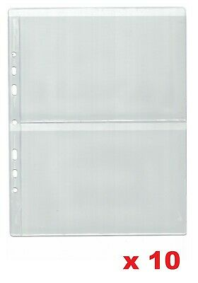 £7.19 • Buy Pages For Banknote Album - Type 2 - For Two Notes    X 10 Sleeves