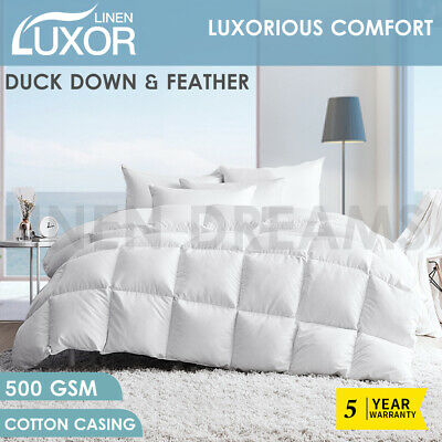 AU60 • Buy Duck Down Feather Winter All Season Quilt Duvet Blanket Cotton Cover - All Size