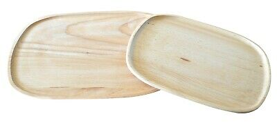 £11.99 • Buy Exclusive Wooden Oak Wood Serving Tray Food Dish Kitchen Vintage Solid NEW