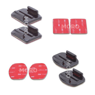 AU6.93 • Buy 4 Pack Curved And Flat Adhesive Mounts 3M Sticky GoPro Hero 7 6 5,4,3 2 1 Camera