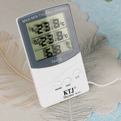 £7.26 • Buy Digital Thermometer Hygrometer Temperature Humidity Meter Room Outdoor W/ Probe