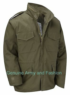 AU72.34 • Buy M65 Jacket Army Military Combat US Field Quilted Liner Winter Coat Vintage Olive