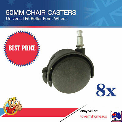 AU15 • Buy 8pc Office Chair Caster Roller Wheels Universal Wheel 50mm Round Furniture TQWHE