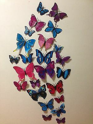 AU5.50 • Buy 3d Butterfly Wall Stickers Decor