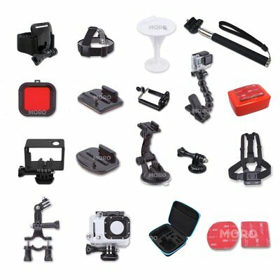 AU18 • Buy Accessories Bike Seatpost Bodyboard Jaws Head Chest Mount GoPro 6 5 4 3+3 Go Pro