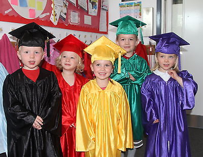 £17.45 • Buy Children's Nursery Graduation Gown And Hat For Age 3--6 Year Kids - 10 Colours+