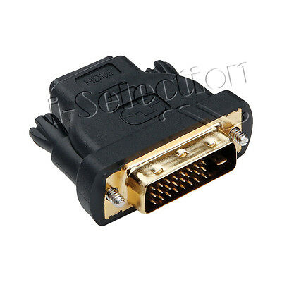 AU5.50 • Buy DVI-D Male 24+1Pin Dual Link To HDMI Female Converter Adapter Socket Gold Plated