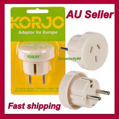 AU21.04 • Buy Travel Adaptor From Australia&New Zealand Travel To EUROPE Noumea Bali Asia Plug