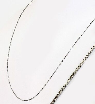 $83.99 • Buy Solid 14k White Gold BOX Necklace Chain 16  18  20  22  US Seller