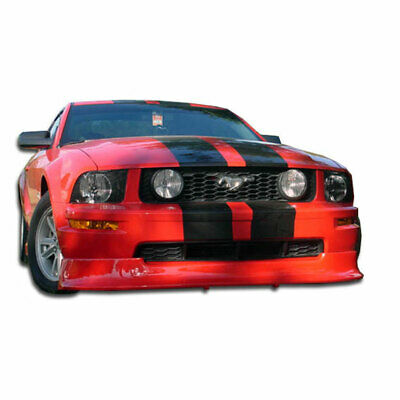 $288 • Buy V6 Racer Front Lip Under Spoiler Air Dam 1 Piece Fits Ford Mustang 05-09 Du