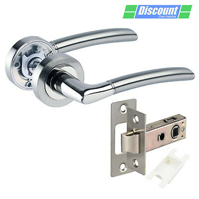 Internal Door Handles With Duo Chrome Lever Handles On Rose • 8.45£