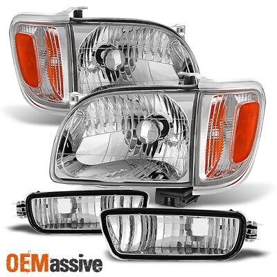 $108.99 • Buy Fits 2001-2004 Tacoma Headlights +Corner+Bumper Signal Lights 02 03 Replacement