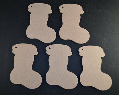 Wooden Mdf Christmas Stocking/boot Craft Shapes 3mm Thick Bunting/garlnds/gifts • 2.20£