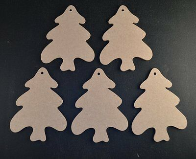 £3.35 • Buy Wooden Mdf Christmas Trees Craft Shapes 3mm Thick Tags/embellishments/xmas