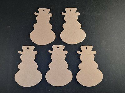 Wooden Mdf Christmas Snowman Craft Shapes 3mm Thick Tags/bunting/garland/gifts • 2.20£