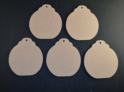 £3.35 • Buy   BAUBLES MDF WOODEN CRAFT SHAPES 3mm 85mm HIGH BUNTINGS WEDDINGS FAVOURS XMAS