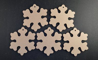£3.35 • Buy WOODEN MDF CHRISTMAS SNOWFLAKE CRAFT SHAPES 3mm BUNTINGS/GARLANDS/WEDDING FAVOUR