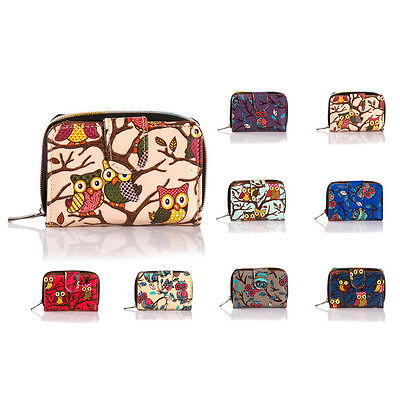 New Ladies Girls Faux Leather Owl Small Coin Purse Wallet Card Holder Bag • 4.99£