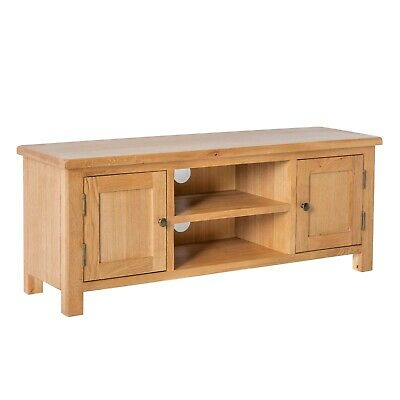 £215.95 • Buy Surrey Oak Large TV Unit Stand Rustic Solid Wood Wide Television Media Cabinet