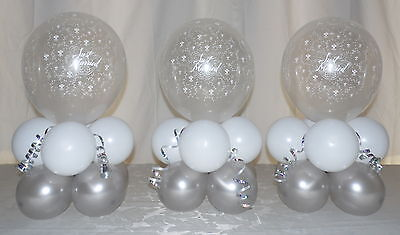 £19.99 • Buy 3 Table  - Just Married - Wedding -  Party - Balloon Display - Table Centrepiece