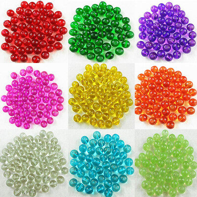 $ CDN3.28 • Buy Wholesale 100 Pcs Transparent Glass Round Spacer Loose Beads 4mm 6mm 8mm