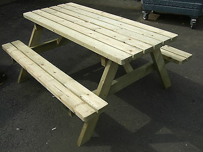 £148 • Buy New Hand Made 5ft Patio Garden Pub Picnic Bench Table Seat Heavy Duty Fsc Timber